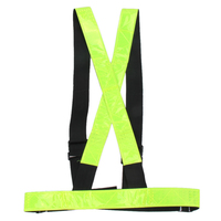 Multi Adjustable Outdoor Safety Visibility Reflective Vest Gear Stripes Sports Night Running Riding Cycling Hiking Vest ISP