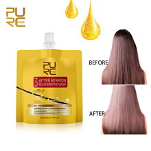 все цены на PURC After Keratin Regenerative Hair Mask For Repairs Damage Hair Restore Shiny Silky No Smoke No Smell No Irritation Hair Care онлайн