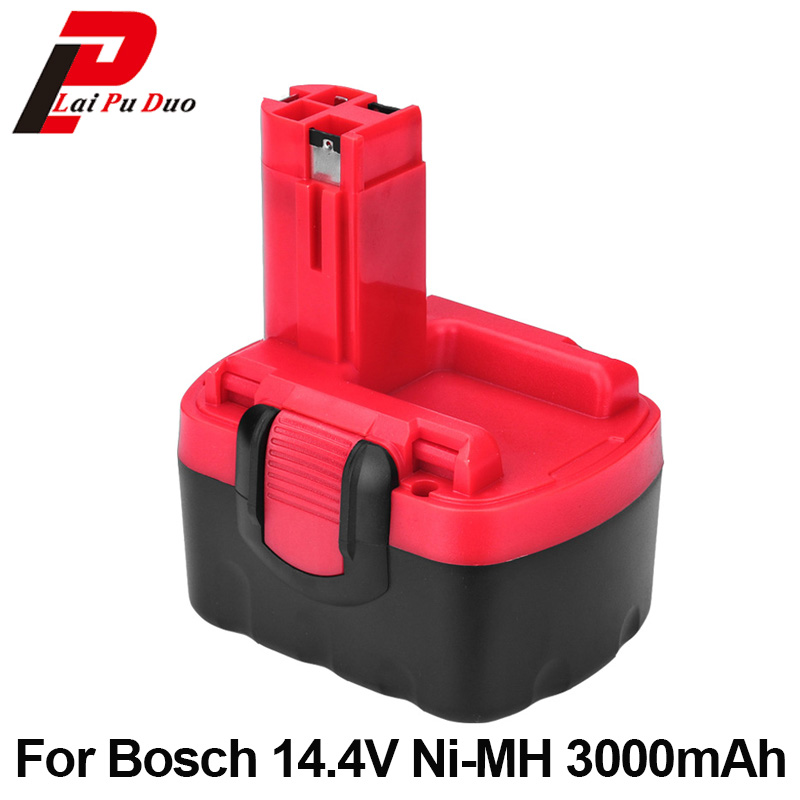 Ni-MH 14.4v 3.0Ah Replacement for Bosch tool battery BAT038 2 607 335 264 BAT040 2 607 335 276 BAT140 BAT159 BAT041 PSR 1-14 new 24v ni mh 3 0ah replacement rechargeable power tool battery for bosch bat299 bat240 2 607 335 637 bat030 bat031 gkg24v