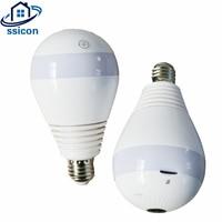 SSICON 2MP 3MP 4MP 360 Degree Wireless IP Camera Bulb Light FishEye Smart Home CCTV Camera Home Security WiFi Camera Panoramic