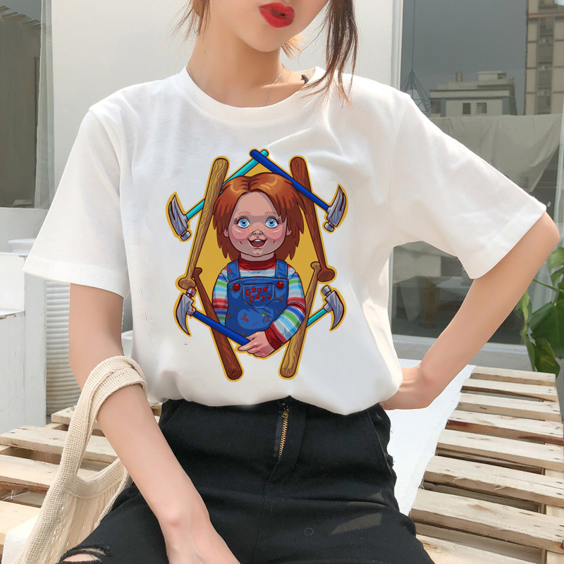 chucky t shirt Horror High cool women top Quality new streetwear tee t-shirt fashion ulzzang female shirts femme new tshirt 14