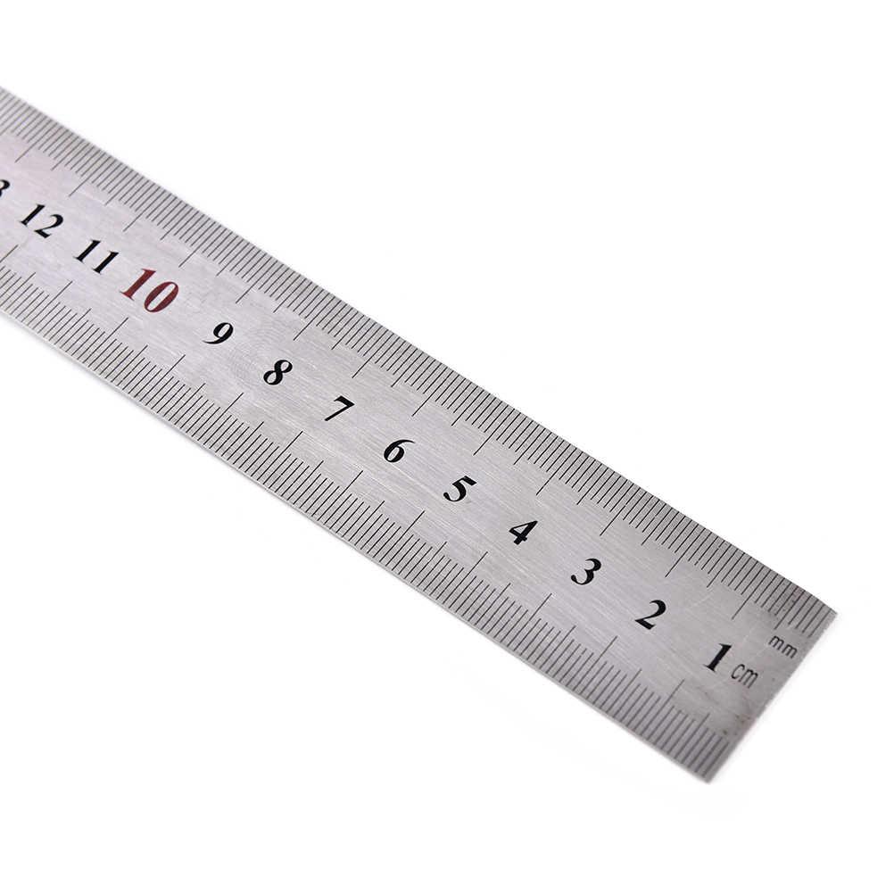 สแตนเลสสตีลตรง 90 องศาเมตริกไม้บรรทัดสแควร์สำนักงานโรงเรียนเครื่องเขียน 150x300 มิลลิเมตร
