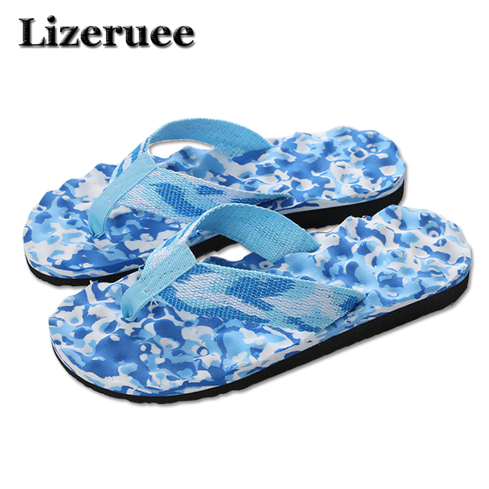 Lizeruee Men Slippers Brand Flip Flops Men Beach Slippers For Couple Summer Shoes Flat Slipper Men Flip Flops HS111 fghgf shoes men s slippers mak