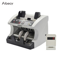 Aibecy Multi-Currency Automatic Cash Banknote Money Bill Counter Counting Machine with Display for EURO/USD/GBP/AUD/JPY/KRW(China)