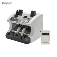 Aibecy Multi Currency Automatic Cash Banknote Money Bill Counter Counting Machine with Display for EURO/USD/GBP/AUD/JPY/KRW