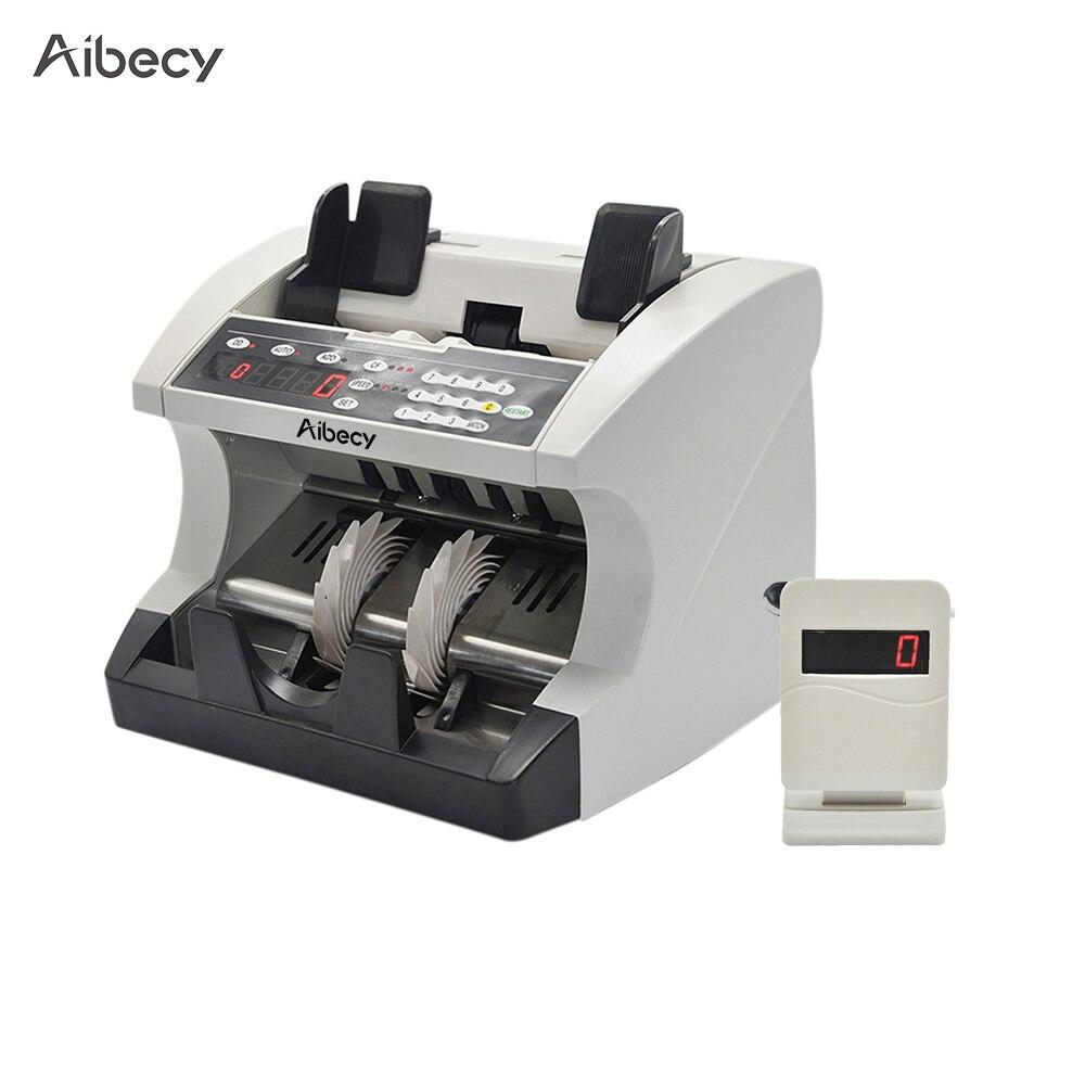 Aibecy Multi-moneda automática de billetes de efectivo máquina de conteo de billetes de dinero con pantalla para EURO/USD/lb /AUD/JPY/KRW