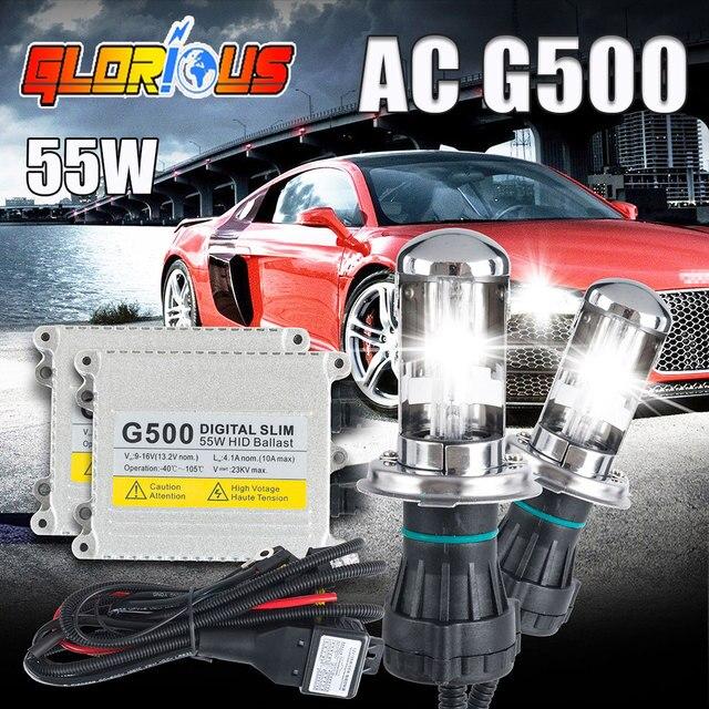 1 компл. h4 ксеноновые лампы комплект G500 hid conversion kit ксенона h4-3 би ксенон луч 3000 К 4300 К 5000 К 6000 К 8000 К 10000 К h4 привет низкой ксенон