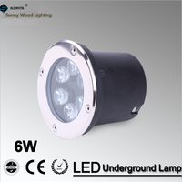 O envio gratuito de LED lâmpadas subterrâneas 6 w luz inground  ip67 construído em iluminação exterior AC85-265V LUL-A-6W 3 anos de garantia