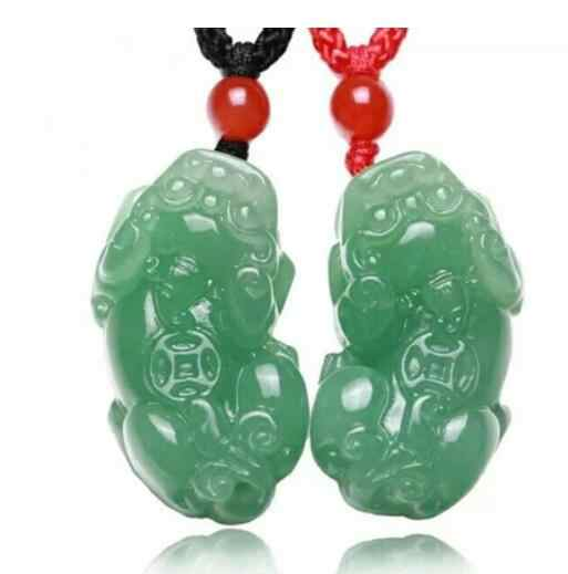 Brand New 100% Natural Green  dongling jade  Brave Troops Pendant Genuine Authentic 5 A stone Pendant free rope