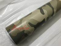 1.52x30m Car Stickers Desert Camo Camouflage Desert Car Wrap Vinyl Sticker Air Release Roll