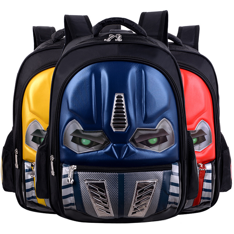 Eyes Glow 3D Cartoon School Bags For Boys Children Backpack Primary Bookbag Schoolbags Mochila Infantil sac