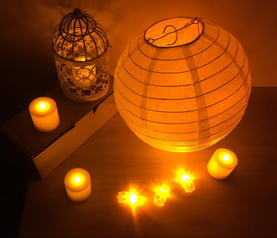 6c4fc3757e8 50 unids lote luces de globo LED blancas para globos de papel luz ...