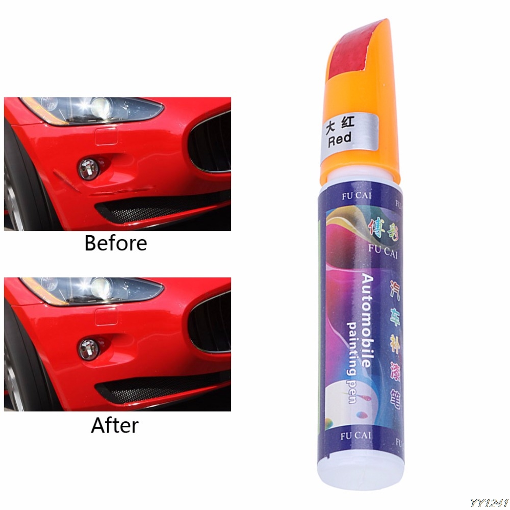 US $1 3 20% OFF|Car Scratch Pen Auto Motorcycle Tyre Tire Tread Touch Up  Marker Paint Pen Red,White,Yellow Drop Shipping-in Painting Pens from