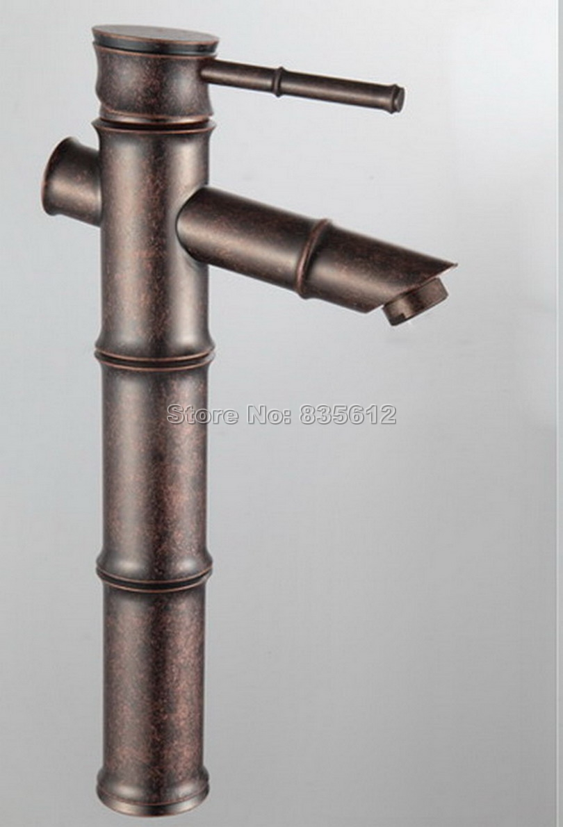 Bamboo Style NEW Antique Copper Bathroom Basin Sink Single Handle ...