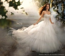vestido de noiva casamento sexy sweetheart tiered salomon bridal gown 2014 new fashion romantic wedding dress bride ball