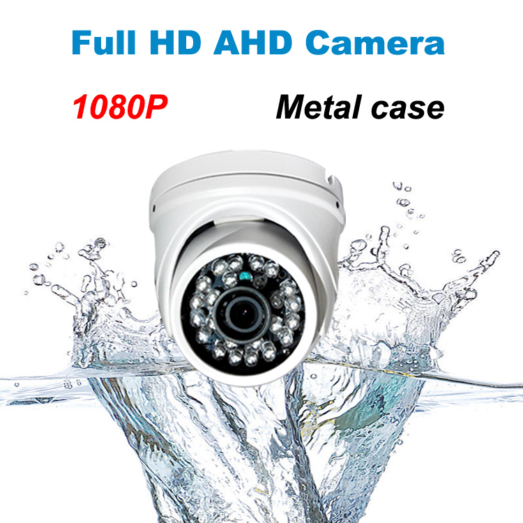ФОТО 2015 HD 1080P metal AHD camera with IR-CUT filter waterproof Outdoor night vision Dome Camera 24 IR LED security CCTV system