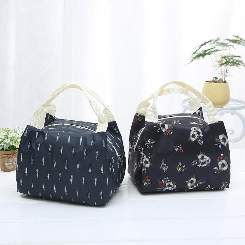 Multi-functional Insulation Portable Lunch Bags Thermal Food Picnic  Canvas Cooler Storage Box for Women Kids