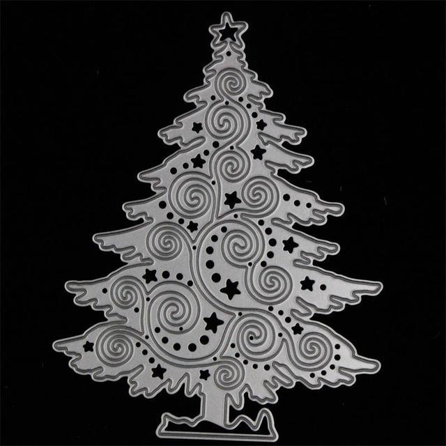 KSCRAFT Arbre De Noël En Métal De Coupe Meurt Pochoirs pour le BRICOLAGE Scrapbooking/photo album Décoratif Gaufrage BRICOLAGE Papier Cartes