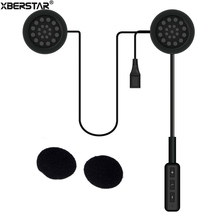 Wireless Bluetooth Headset Casco de La Motocicleta Auricular Bluetooth Estéreo de Música Auriculares Manos Libres w/Micrófono para el Teléfono/MP3