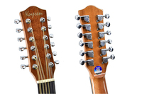 Guitar 12 Strings Acoustic Electric Balladry Folk Flattop 41 Inch D Highgloss Spruce Sapele Guitarra Cutaway Light Pick Up
