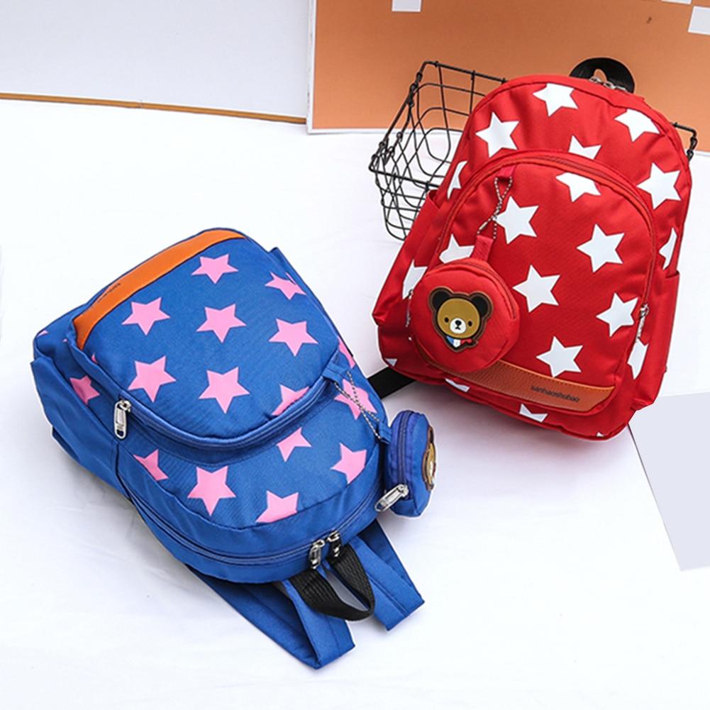 New Children Cartoon Nylon Diaper Supplies Mummy Bag Backpack Bag Stars Printing Bear Shoulder Pack Child Care Storage Bag