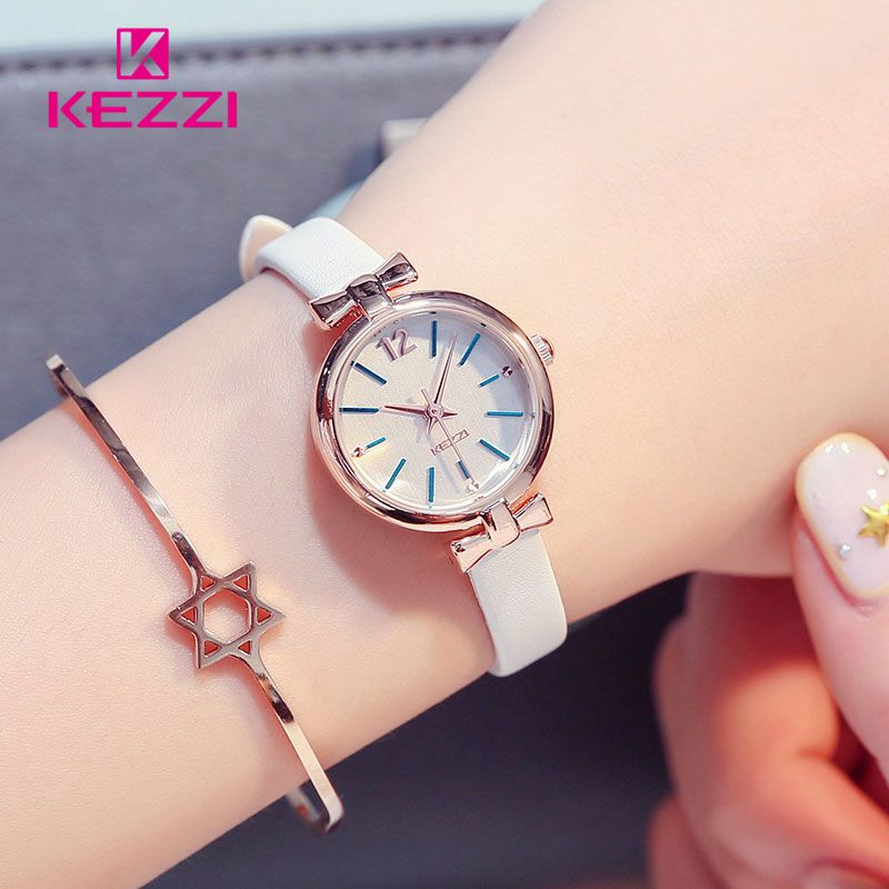 KEZZI Watch Slim Women bayan kol saati Fashion Ladies Small Woman Watch Casual Leather Waterproof reloj mujer women watches