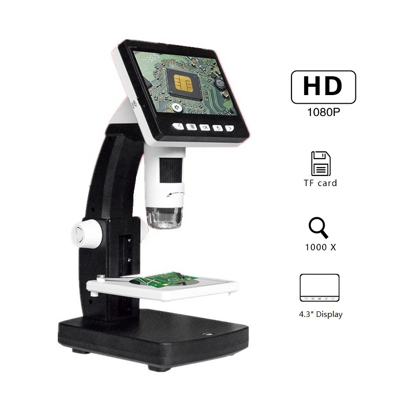 1000X 2.0MP Digital Microscope With 4.3