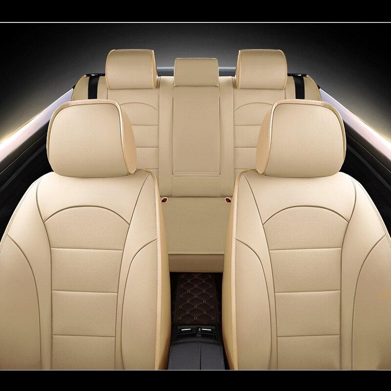 AUSFTORER Tutte Le 3 Righe Della Copertura di Posti a Sedere per Mazda CX 9 Pelle Bovina Sedile In Pelle Coperture Auto Cuscino Coperture Supporta Accessori 22 pz/set - 3