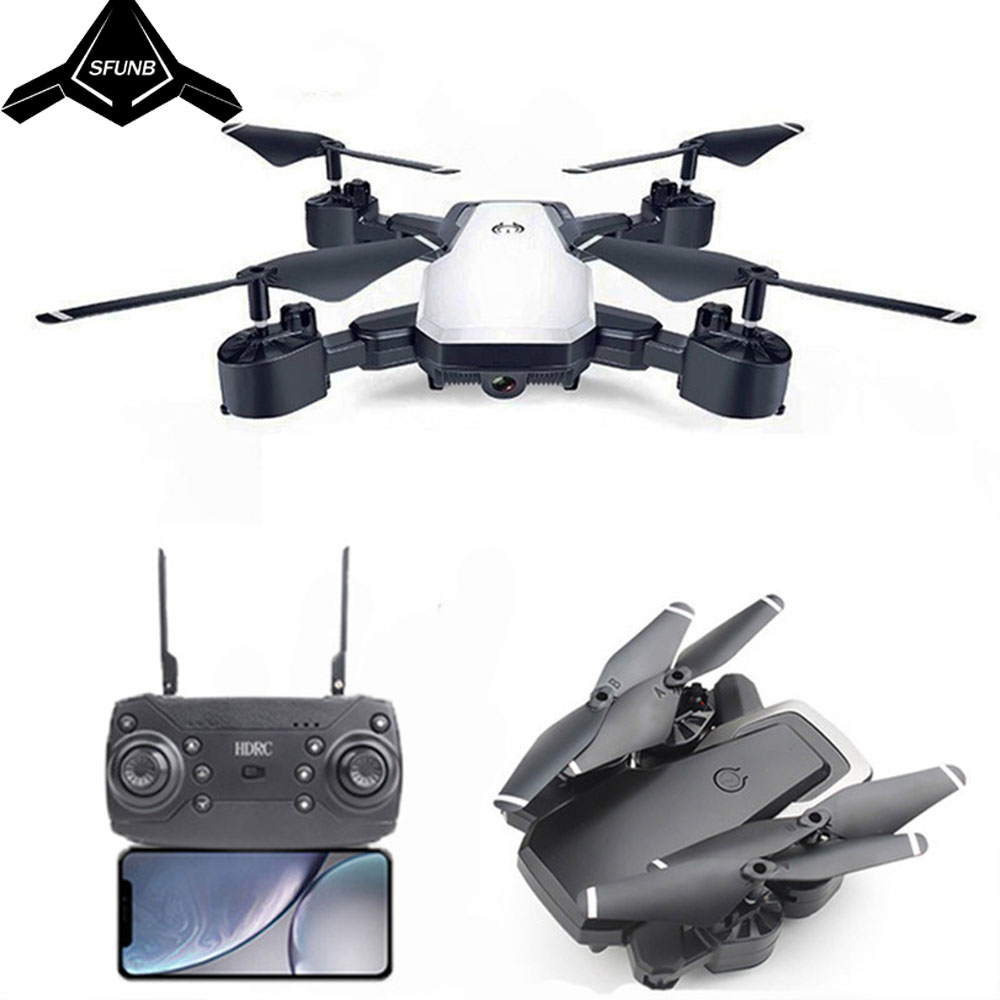 HDR D8 Drone With HD 1080P Wifi Camera Quadrocopter Hovering FPV Quadcopters 5MP Folding RC Helicopter Storage bag toy for boy Квадрокоптер