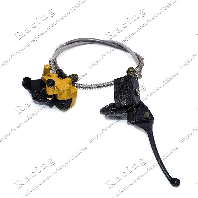 Brake Lever with Caliper 950MM brake hose for Dirt Pit Bike CRF50 70 KLX 110 SSR50 Kayo Chinese Bike plastic kit fender for honda crf50 xr50 70 crf 50 xr 50 sdg ssr pro 50cc 110c 125cc dirt pit bike fit for kayo kr110