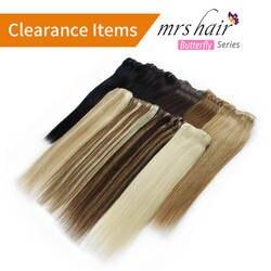 """Миссис зажим для волос в волос 16 """"18"""" 20 """"22"""" машина сделала человеческих Заколки для волос чёрный; коричневый блондинка 100% натуральных волос 100"""