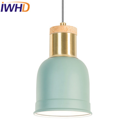 IWHD Nordic Style Modern Pendant Lamps Living Room Fashion Restaurant LED Pendant Light Fixtures Home Lighting Lamparas Lustre iwhd aluminum led pendant light modern bedroom living room hanglamp home lighting fixtures nordic style suspension luminaire