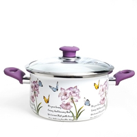 Thick Enamel Soup Pot 24cm Cooker Pot Induction Cooker Universal Pot Cookware Stock Pots Cookware Hotpot