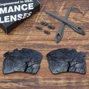 Image 2 - Toughasnails oakley flak 2.0 xl vented sunglasses 용 편광 렌즈 및 회색 고무 키트