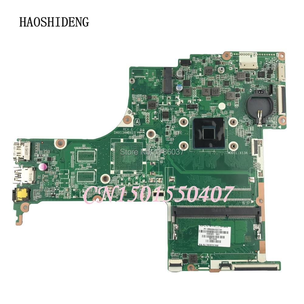 HAOSHIDENG 809323-501 809323-001 DAX13AMB6E0 X13A for HP PAVILION NOTEBOOK 17-G motherboard 809323-601. fully Tested !! 809398 501 809398 601 da0x22mb6d0 x22 for hp pavilion notebook 17 g series motherboard with a6 6310 cpu all fully tested