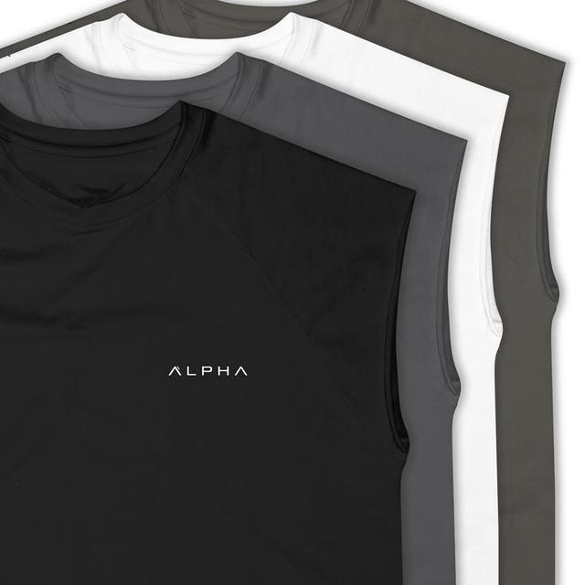 2019 Summer New ALPHA Brand Vest Bodybuilding Clothing And Fitness Men Undershirt  Men Undershirt