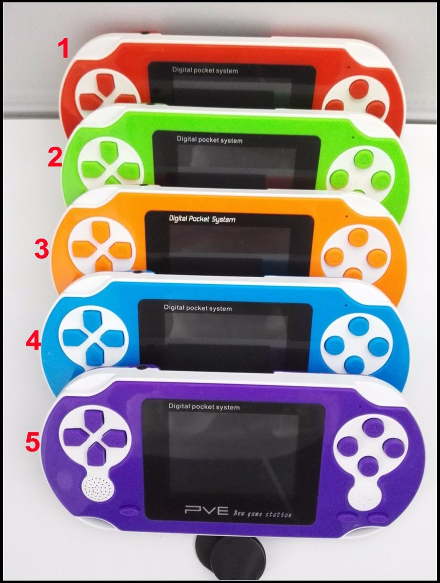 Digital LCD Handheld Portable 2.5-inch 8-bit Game Player PVE Handheld Game Card Game Retail Package portable game console
