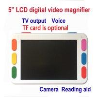 5 дюймов ЖК дисплей Портативный magnifie низкое видение видео лупа электронная помощь для чтения, цифровой портативный видео лупа