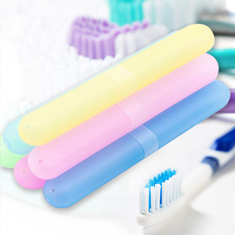 1x Portable Toothbrush Cover Holder Travel Hiking Camping Toothbrush Case Box
