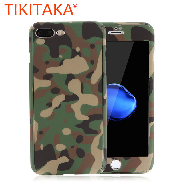 new arrival a3c11 80d0a US $2.79 25% OFF|Cool Camouflage Armor 360 Case For iphone 7 6 6s Plus 5 5s  SE Cover Fashion 2 in 1 Protective Phone Cases With Glass Screen Film-in ...