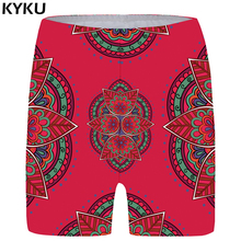 KYKU Flower Shorts Women Graphic Sexy Casual Red 3d Printed Short Pants Colorful Ladies Womens Summer 2018 New