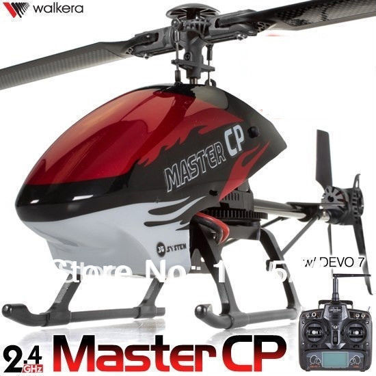 Walkera Master CP Flybarless 6-axis-Gyro Brushed 2.4G 6CH 3D RC <font><b>Helicopter</b></font> w/ DEVO 7 TX Lipo &#038; <font><b>Charger</b></font> RTF