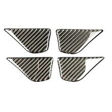 2019 4 шт углеродного волокна салона дверные ручки чаши Cover Обрезать наклейки для Mercedes C Class W205 C180 C200 GLC аксессуары