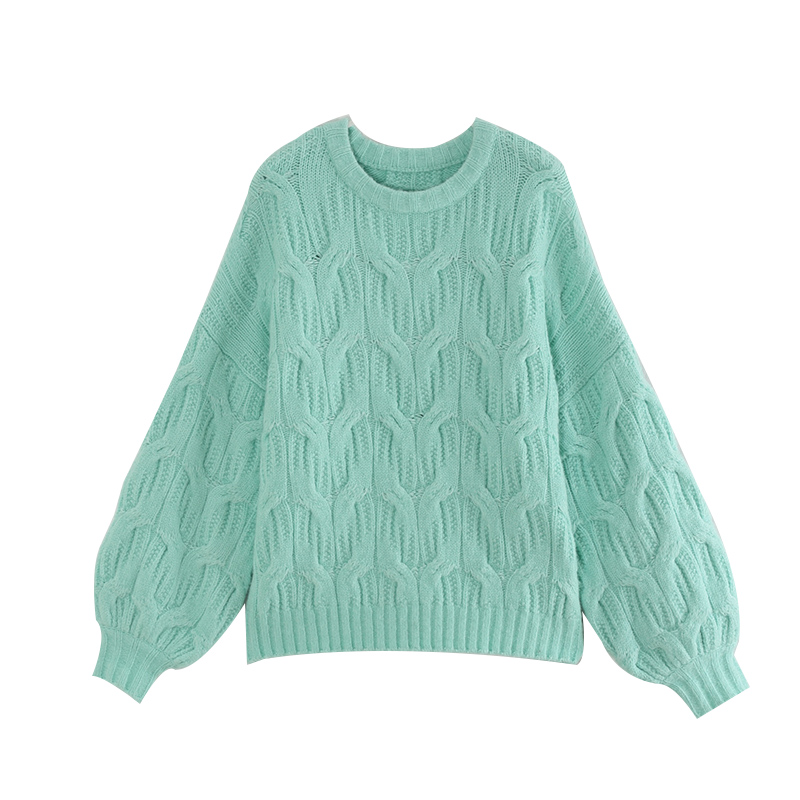 Toyouth Winter Frauen Gestrickte Pullover Lässige Warm Dicken Pullover Oansatz Lose Weibliche Tops Langarm Harajuku Pullover 2019