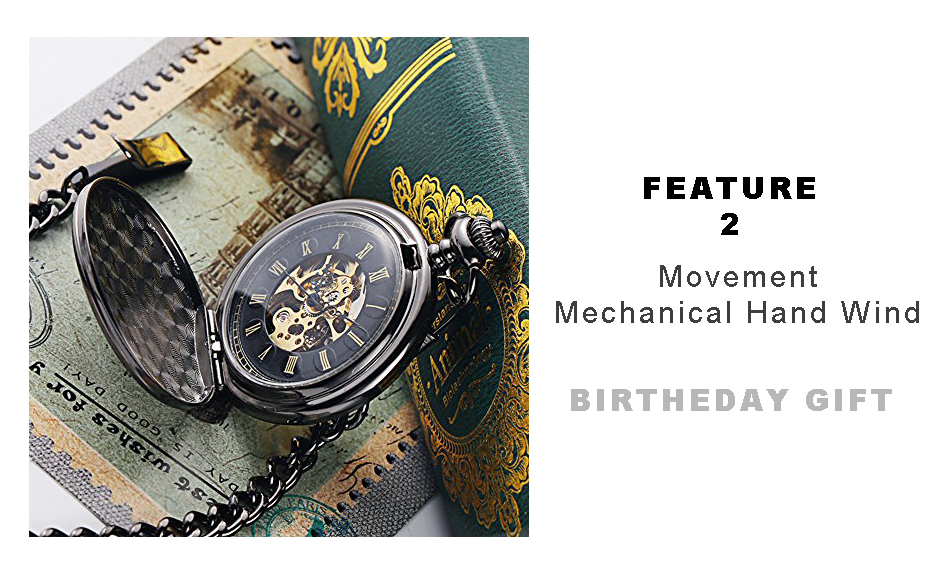 happy birthday mechanical pocket watch 950PX-4
