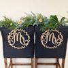 Bride And Groom Mr And Mrs Chair Sign For Wedding Rustic Wedding Wreath Party Decor Wedding Photo Props Personalized Wedding Gif 1