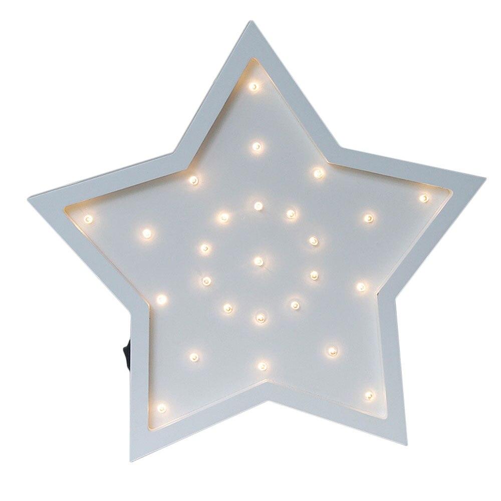 Mabor Night Light LED Cartoon Five Pointed Star Night Wall <font><b>Lamp</b></font> Modeling Light Home <font><b>Decorative</b></font>