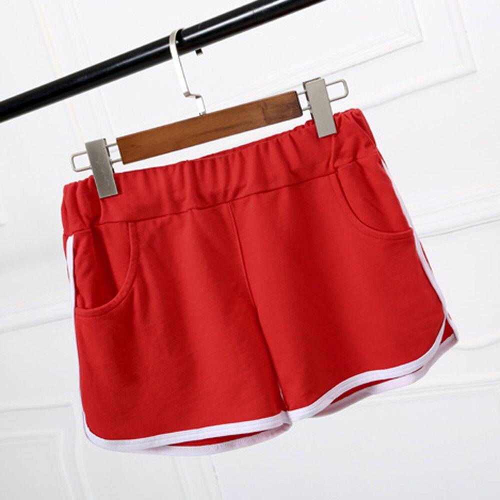 2017 summer fashion shorts women elastic waist short pants for Women s fishing shorts