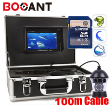 100m Sony color CCD PTZ 360 Rotatable fishing camera 360 rotation Underwater video camera with DVR 360 degree fish video camera