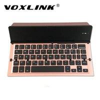 Voxlink Универсальный мини Беспроводной путешествия клавиатура для портативных ПК Планшеты Складная Bluetooth клавиатура для iPad Mackbook телефона